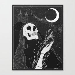 Mugwort Moon Original by Moon Goddess MArket Canvas Print