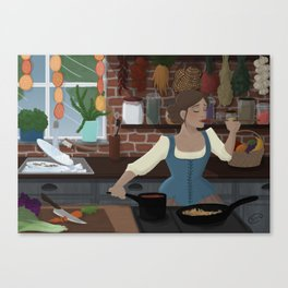Cook in the Kitchen Canvas Print