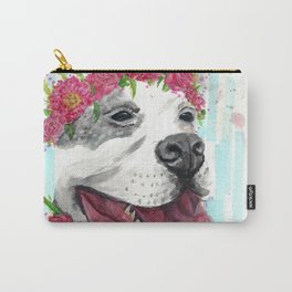 Puppy In Pink Carry-All Pouch