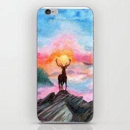 Deer on the heights iPhone Skin