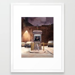 Holiday Parking Framed Art Print