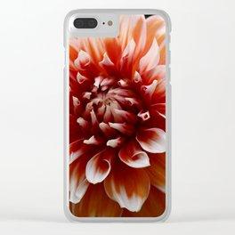 Cognac-Colored Dahlia Clear iPhone Case