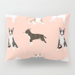 Bull Terrier mixed coat black and white terriers white and tan bull terriers lovers dog breed gifts Pillow Sham