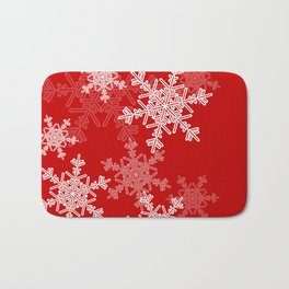 Red snowflakes Bath Mat
