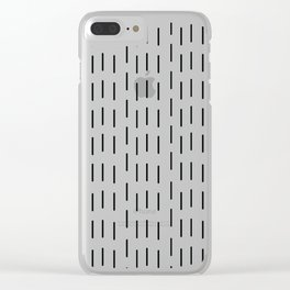 Rain that is falling on you constantly Clear iPhone Case