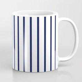 Vertical Navy Blue Stripes Pattern Coffee Mug