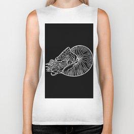 Nautilus in White Biker Tank