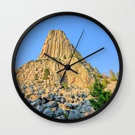 Devils Tower 2 Wall Clock