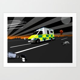 MAKE WAY FOR THE MEAT WAGON Art Print
