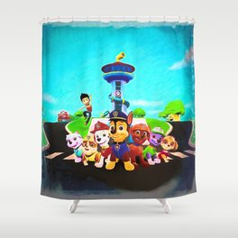 Assembled & Ready For Rescue! Shower Curtain