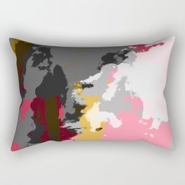 Ichytaro - Colorful Batik Camouflage Tie-Dye Style Pattern Rectangular Pillow