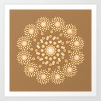 Atom B4 - Brown Art Print