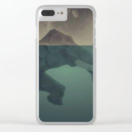 Elephant mountain Clear iPhone Case