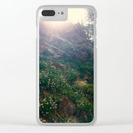 Mountainside Columbines Clear iPhone Case