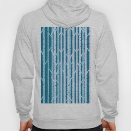 Abstract Birch Forest On Woven Silk Hoody