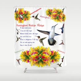 Hummingbird Nectar Recipe Shower Curtain