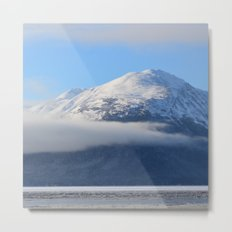 Winter Fog - Turnagain Arm, Alaska Metal Print