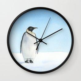Penguin Watercolor Wall Clock