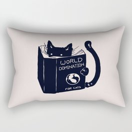 World Domination For Cats Rectangular Pillow