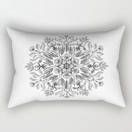 Thrive - Monochrome Mandala Rectangular Pillow
