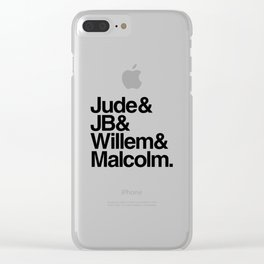 JB & Jude & Willem & Malcolm Clear iPhone Case