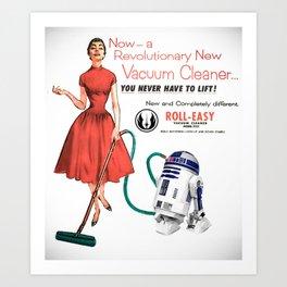 R2D2 Vacuum Art Print