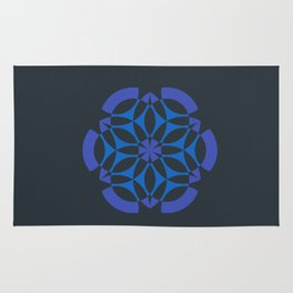 Stealthy sense | Abstract sacred geometry | Aliens crop circle Rug