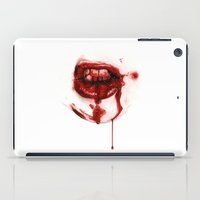 mouth iPad Cases featuring Bloody Mouth by Sam Luotonen