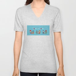 Love is Love Blue - We Are All Equal Unisex V-Neck