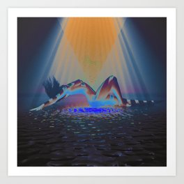 INVERTED SUNLIGHT Art Print