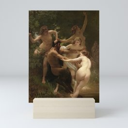 """William-Adolphe Bouguereau """"Nymphs and Satyr"""" Mini Art Print"""