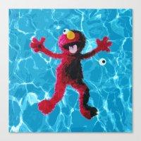 elmo Canvas Prints featuring Elmo by DandyBerlin
