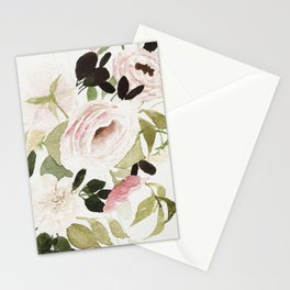 Romantic Loose Rose Bouquet Stationery Cards