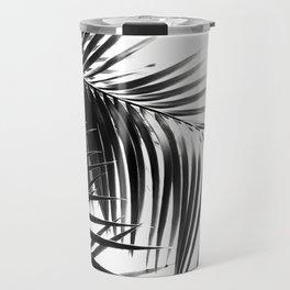 Palm Leaves Black & White Vibes #3 #tropical #decor #art #society6 Travel Mug