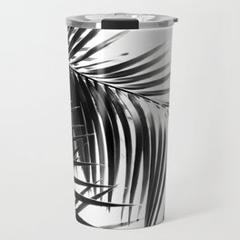 Palm Leaves Black & White Vibes #3 #tropical #decor #art #society6 Travel Mug