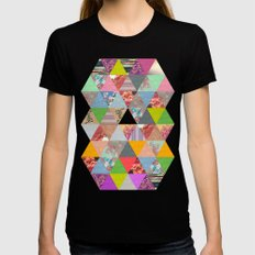 Lost in ▲ Black SMALL Womens Fitted Tee