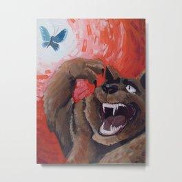 Bear Illustration  Metal Print