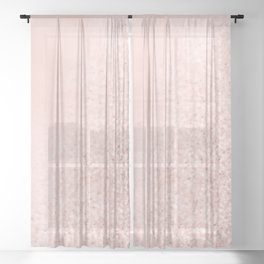 She Sparkles Rose Gold Pastel Pink Luxe Geometric Sheer Curtain
