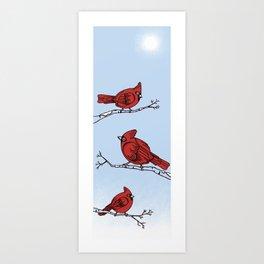 Winter Cardinals  Art Print