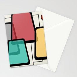 Mid-Century Modern Art Landscape 1.1 Stationery Cards