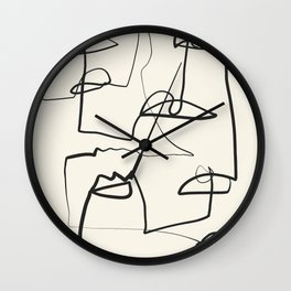 Abstract line art 12 Wall Clock