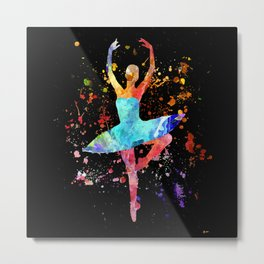 Ballerina Blacky Black Metal Print