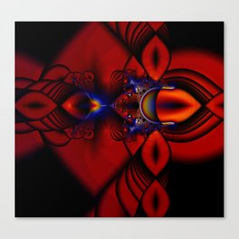 Ruby Abstract Stained Glass Window Canvas Print