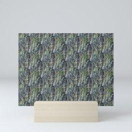Stone wall, rock formation Mini Art Print