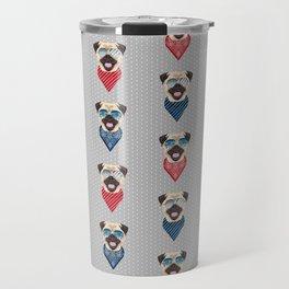 Pug summer bandana sunglasses pure breed dog gifts Travel Mug