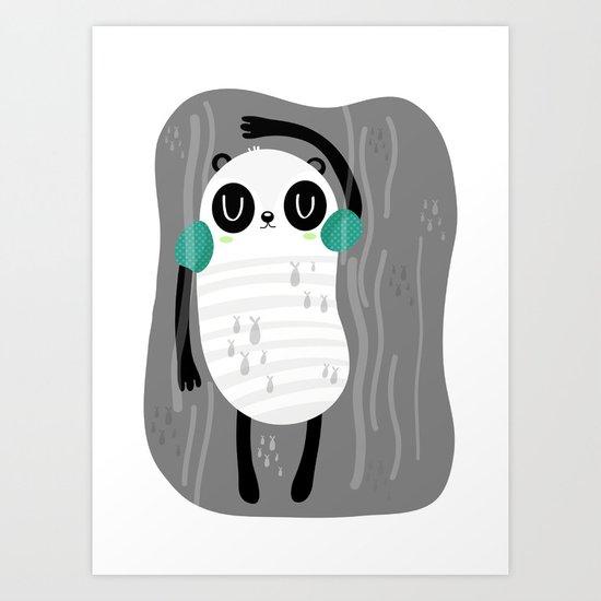 Contra corriente Art Print