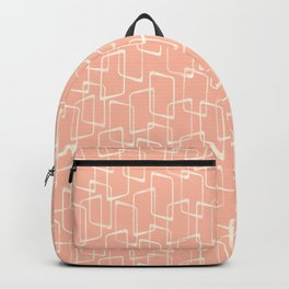 Mid Century Blush Geometric Pattern Backpack