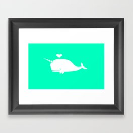 For the Love of Narwhals Framed Art Print
