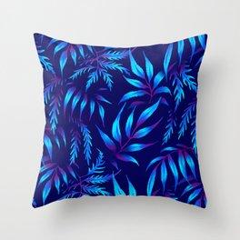 Brooklyn Forest - Blue Throw Pillow