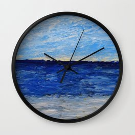 Simple Seascape Wall Clock